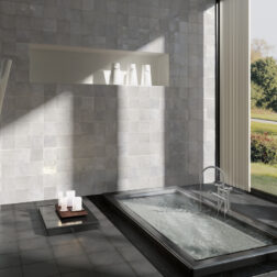 Artisan Alabaster Gloss Square Tiles Lifestyle