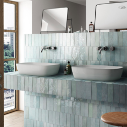 Artisan Aqua Gloss Subway Tiles Lifestyle