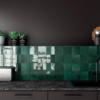 Artisan Moss Green Gloss Square Tiles Lifestyle