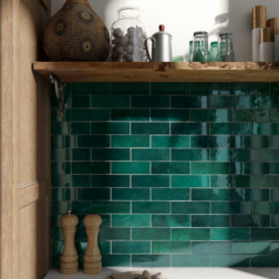 Artisan Moss Green Subway Tiles Lifestyle
