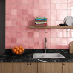 Artisan Rose Gloss Square Tiles Lifestyle