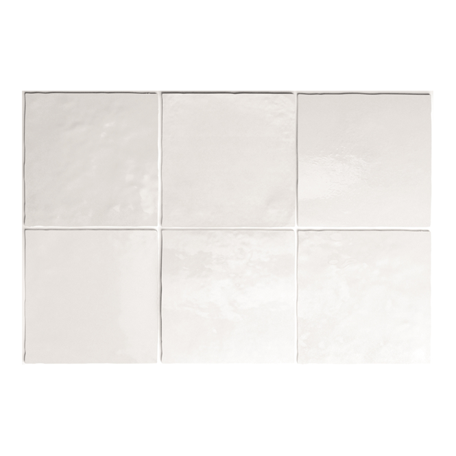Artisan White Gloss Square Tiles