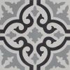 Aberdeen Black Grey and White Encaustic Single Tile