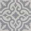 Aberdeen Grey and White Encaustic Single Tile