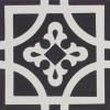 Oxford Black and White Encaustic Single Tile