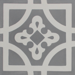 Oxford Grey and White Encaustic Single Tiles