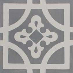 Oxford Grey and White Encaustic Single Tiles