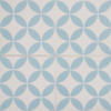 Petal Blue on White Encaustic Single Tiles