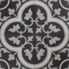 Tudor Black Grey and White Encaustic Single Tiles