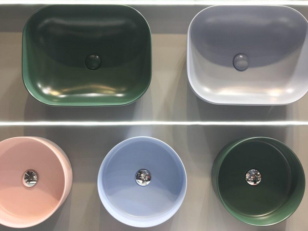 Coloured basins 2020 bathroom trends