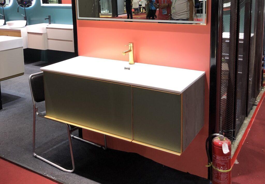 Green vanity 2020 bathroom trends