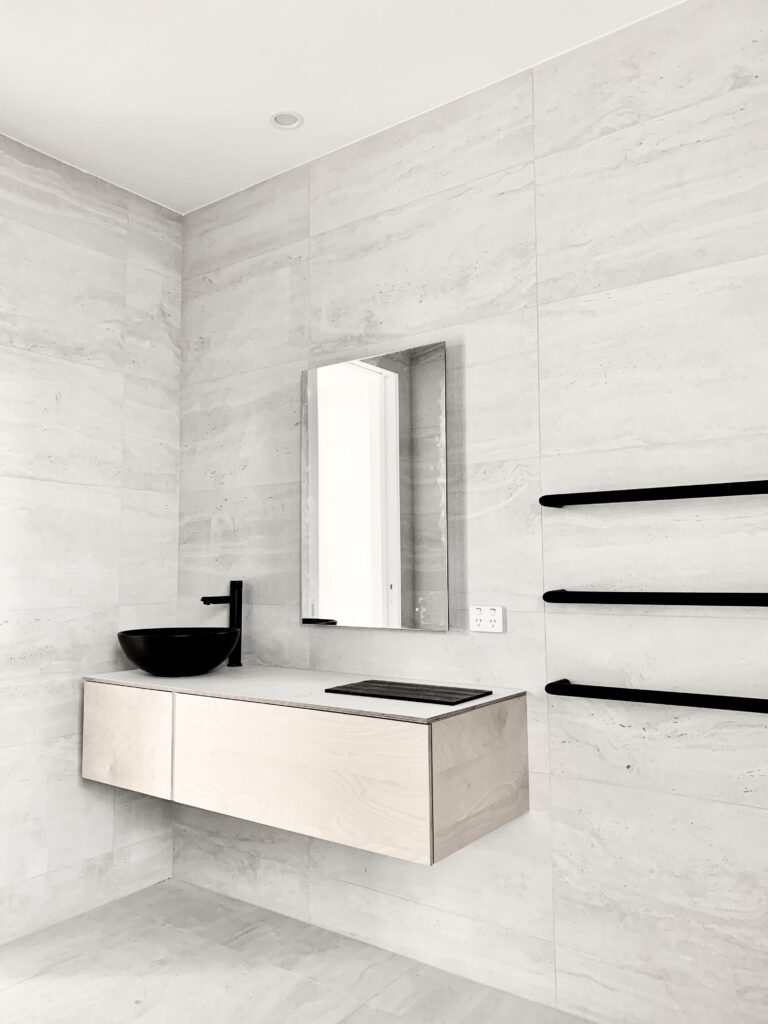 White Tonal Bathroom