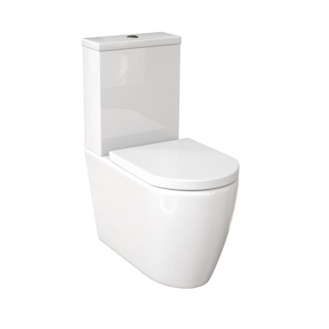 Narva Comfort Height Rimless Close Coupled Back to Wall Toilet Suite