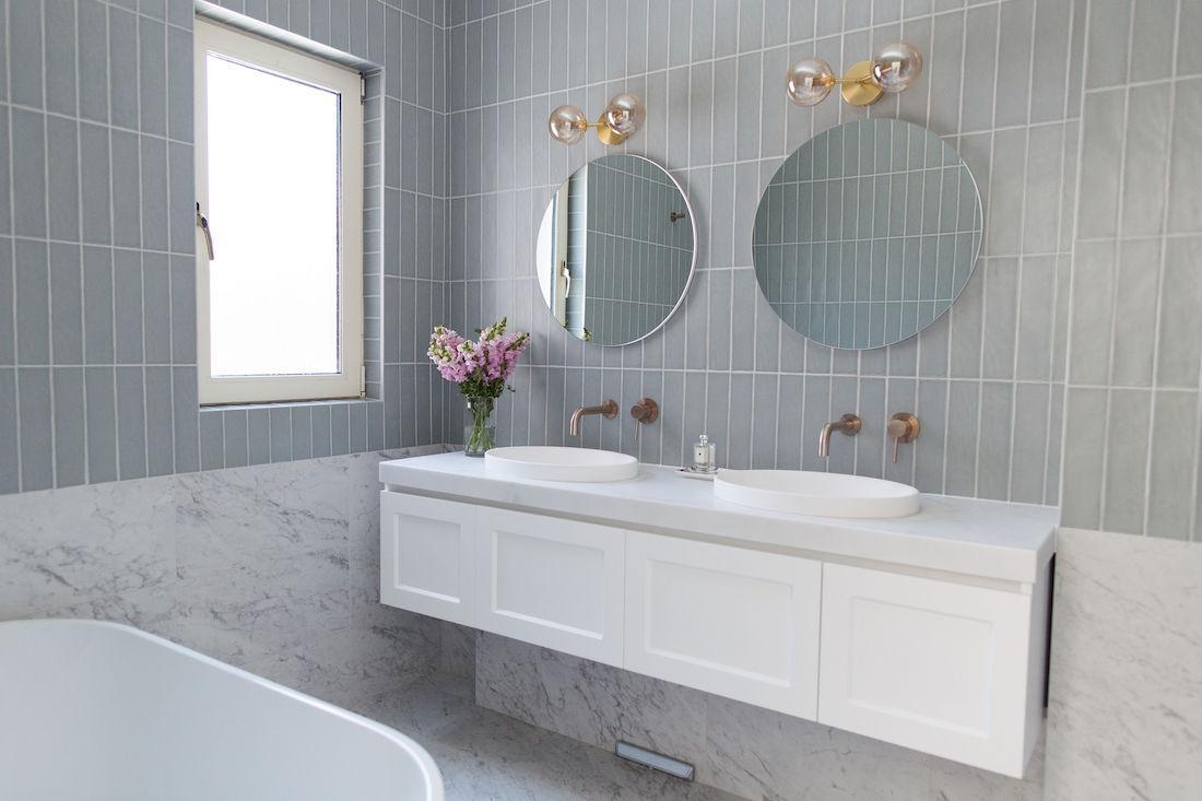 double vanity and double mirrors