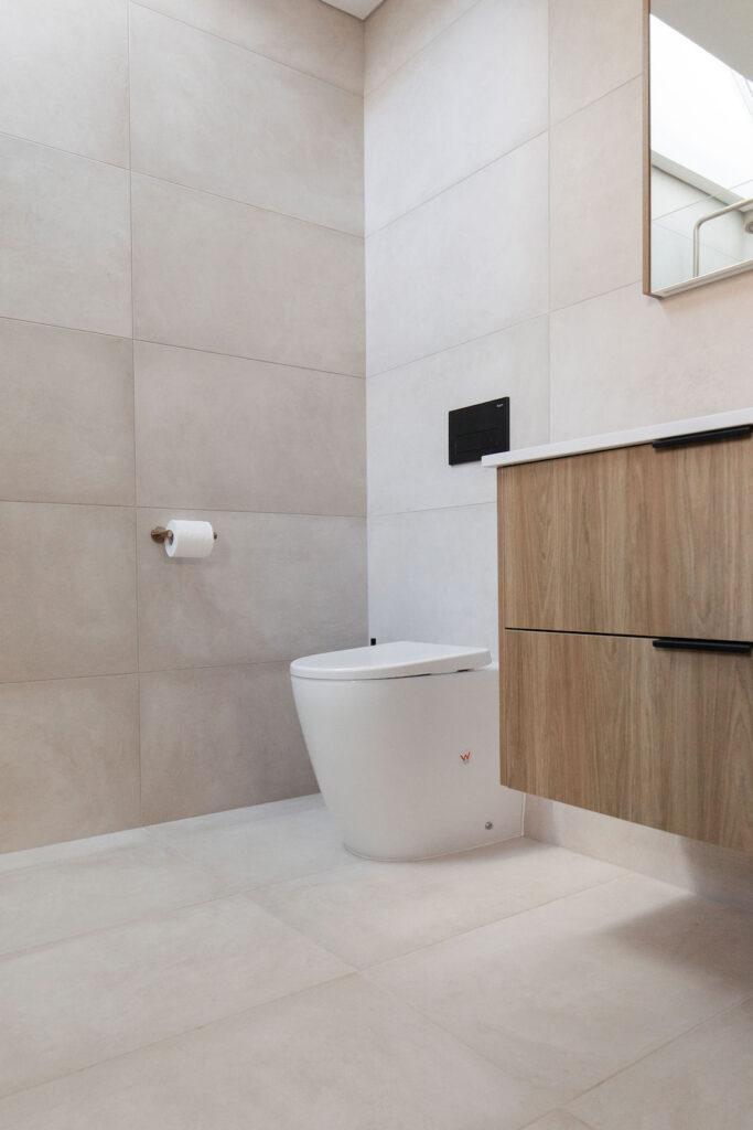 In wall toilet