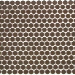 Camden Penny Round Cappuccino Gloss Glazed Mosaic Tile