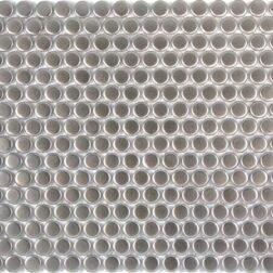Camden Penny Round Silver Matt Mosaic Tile