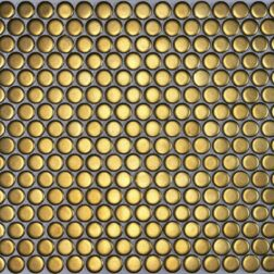 Camden Penny Round Gold Matte Mosaic Tile