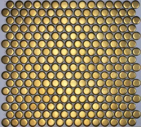 Camden Penny Round Gold Matte Mosaic Tile