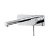 Lozano 162 Series Wall Combination Mixer and Straight Spout on Backplate - Polished Chrome