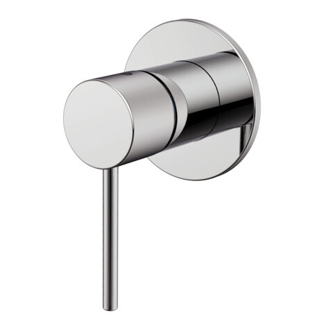 Lozano 162 Series Wall Diverter Mixer on Round Backplate - Polished Chrome
