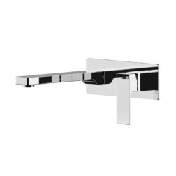Lozano Lucas Wall Combination Mixer + Spout on Backplate - Polished Chrome
