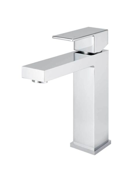 Meir Square Basin Mixer Tap - Polished Chrome