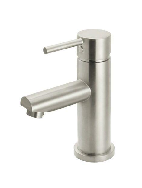 Brushed Nickel Round Basin Mixer Tap Meir
