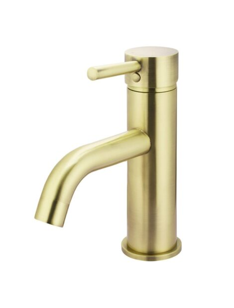 Meir Round Basin Mixer Curved - Tiger Bronze Gold