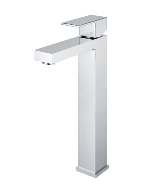 Meir Square Tall Basin Mixer Tap - Polished Chrome