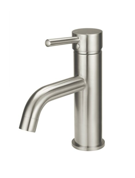 Meir Round Basin Mixer Curved - PVD Brushed Nickel