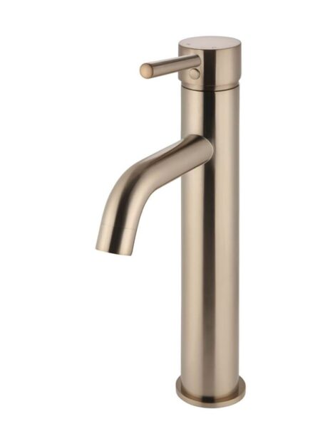 Meir Round Tall Curved Basin Mixer - Champagne