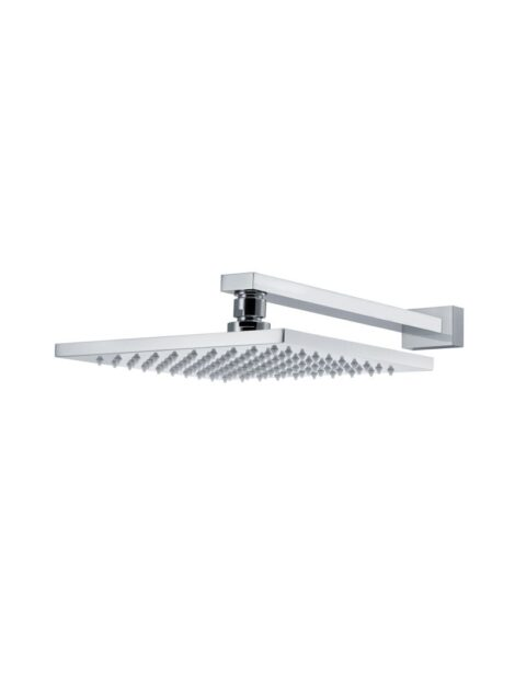 Meir Square Wall Shower 200mm rose, 300mm arm - Polished Chrome