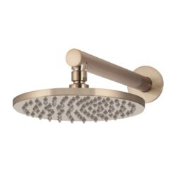Meir Round Wall Shower 200mm rose, 300mm arm - Champagne