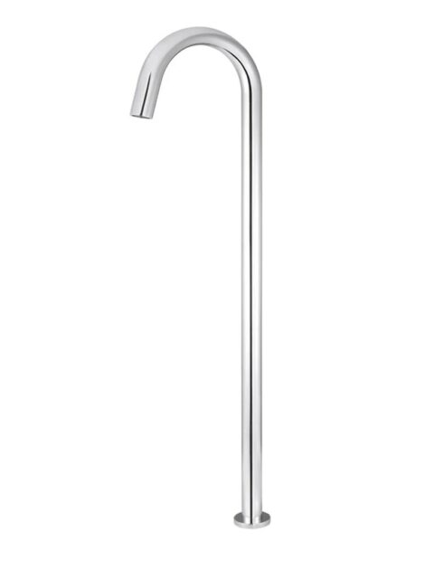 Meir Round Freestanding Bath Spout - Polished Chrome