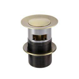 Meir Basin Pop Up Waste 32mm - Overflow / Slotted - Tiger Bronze