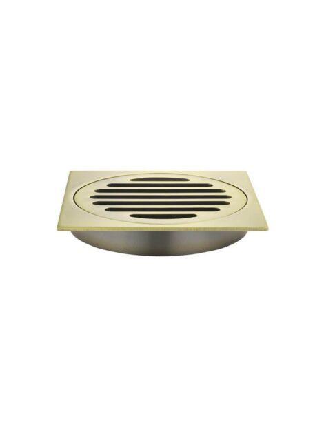 Meir Square Floor Grate Shower Drain 100mm outlet - Tiger Bronze