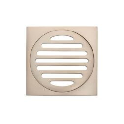 Meir Square Floor Grate Shower Drain 100mm outlet - Champagne