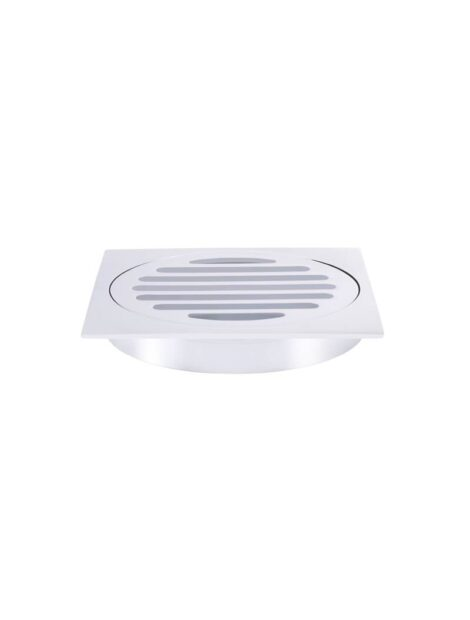 Meir Square Floor Grate Shower Drain 100mm outlet - Polished Chrome