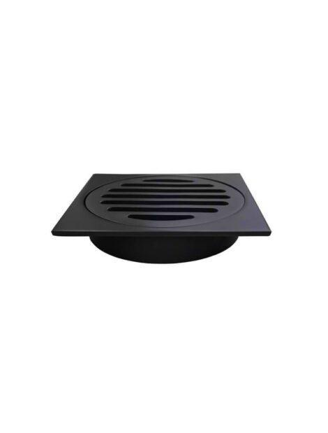 Meir Square Floor Grate Shower Drain 100mm outlet - Matte Black