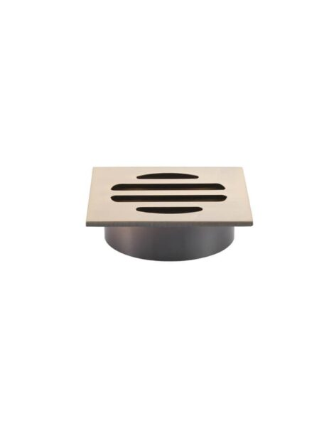 Meir Square Floor Grate Shower Drain 50mm outlet - Champagne