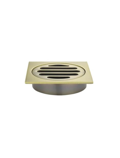 Meir Square Floor Grate Shower Drain 80mm outlet - Tiger Bronze