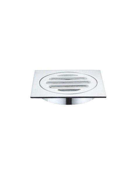 Meir Square Floor Grate Shower Drain 80mm outlet - Polished Chrome