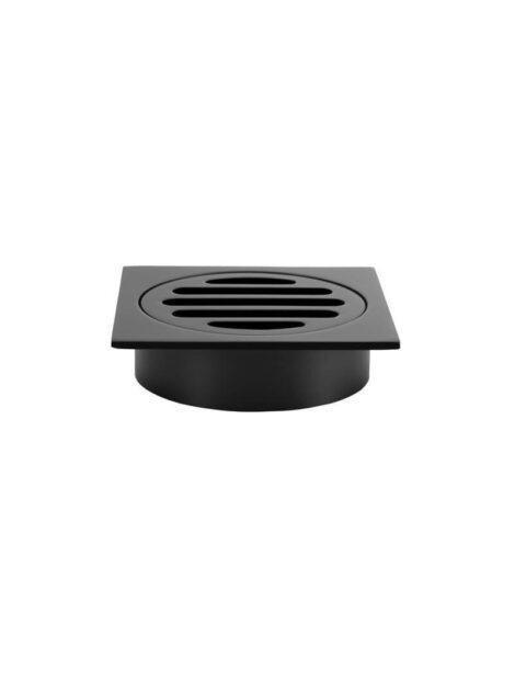 Meir Square Floor Grate Shower Drain 80mm outlet - Matte Black