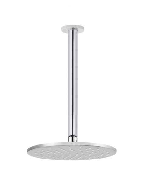 Meir Round Ceiling Shower 250mm rose, 300mm arm - Polished Chrome