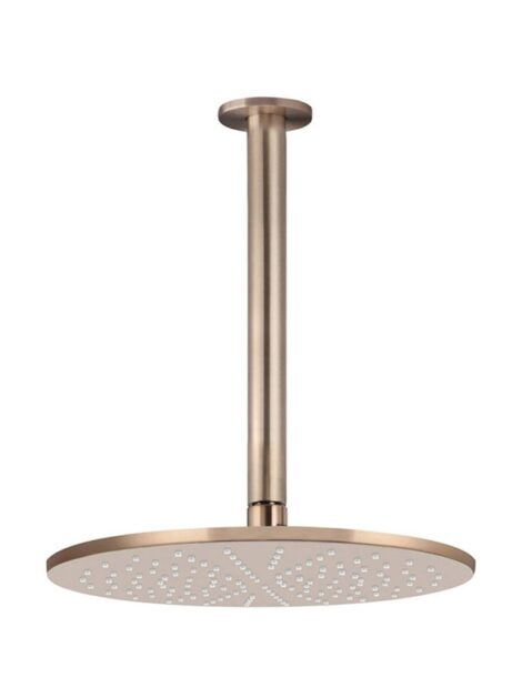 Meir Round Ceiling Shower 300mm rose, 300mm arm - Champagne