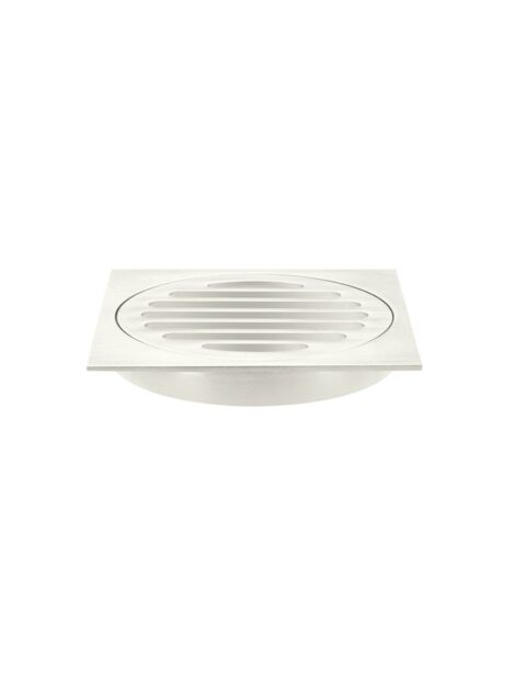 Meir Square Floor Grate Shower Drain 100mm outlet - PVD Brushed Nickel