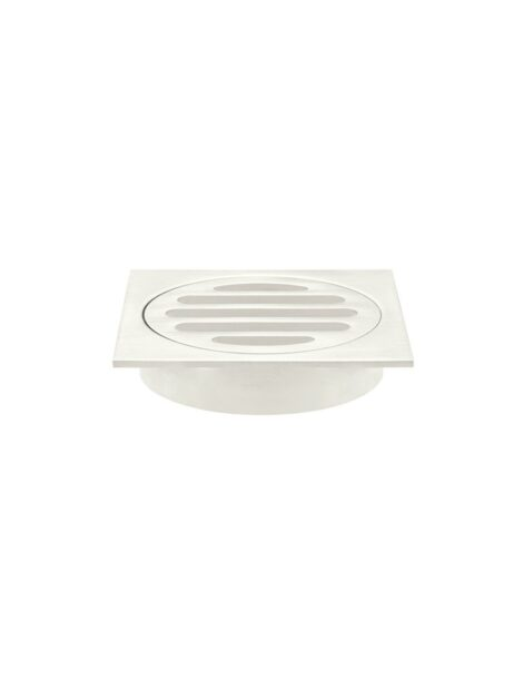 Meir Square Floor Grate Shower Drain 80mm outlet - PVD Brushed Nickel