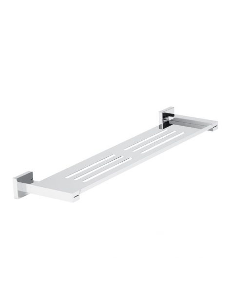 Meir Square Bathroom Shelf - Polished Chrome