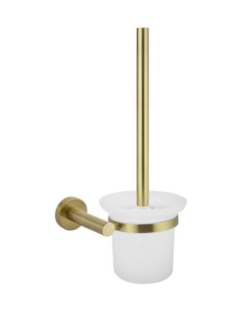 Meir Round Toilet Brush & Holder - Tiger Bronze